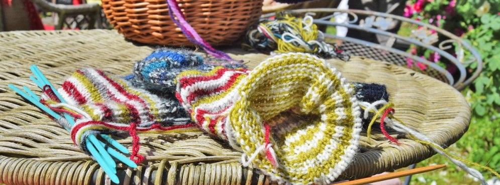 """Fra """"Knit in Public"""" i haven"""