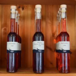 Likører med Granatæble, rød fersken eller whisky, appelsin og chokolade
